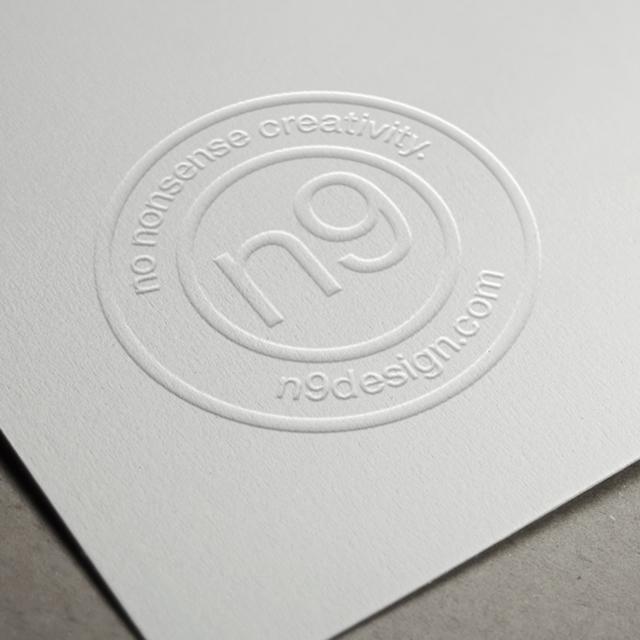 N9 Design embossed logo