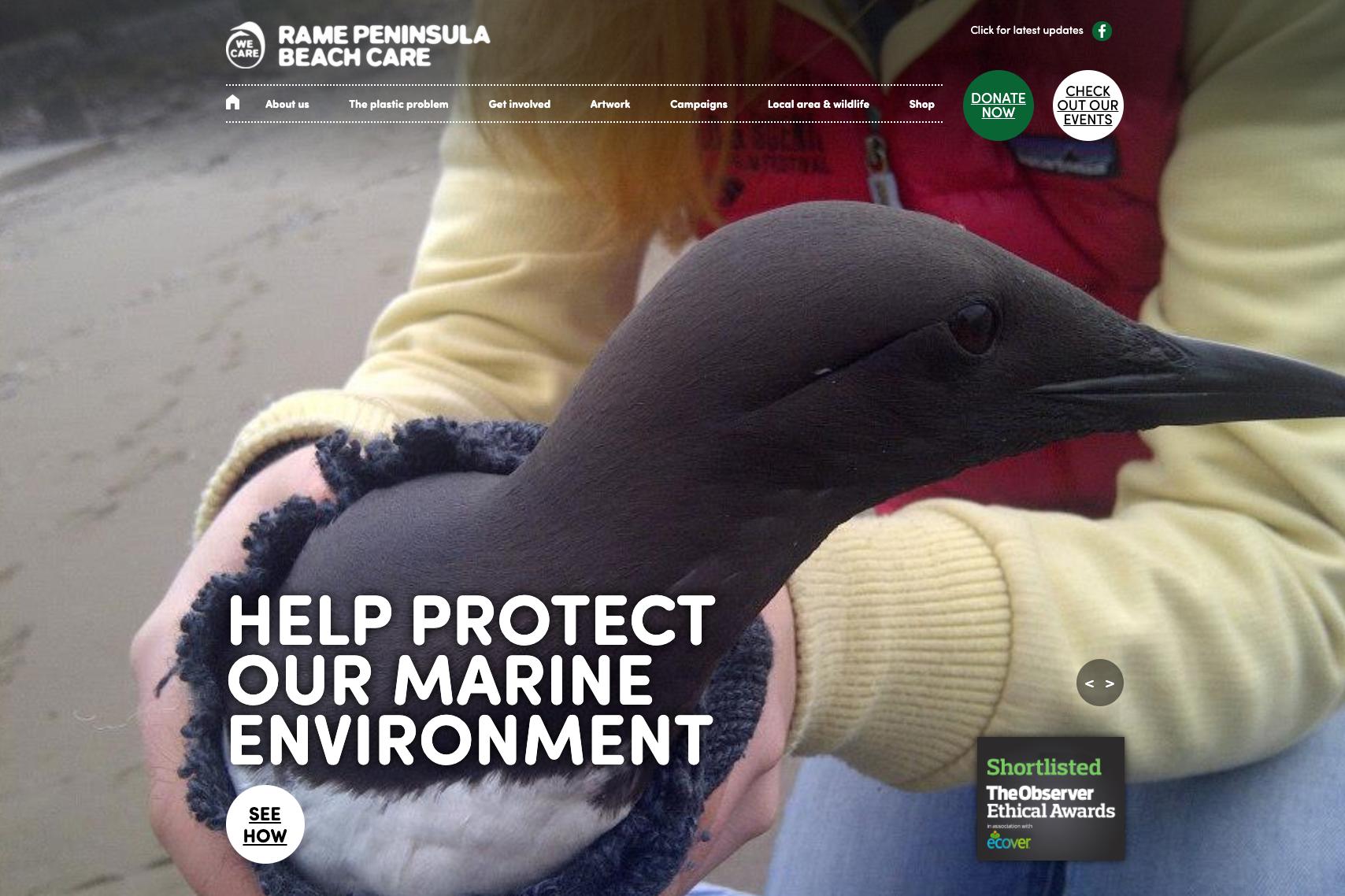Rame Peninsula Beach Clean website image