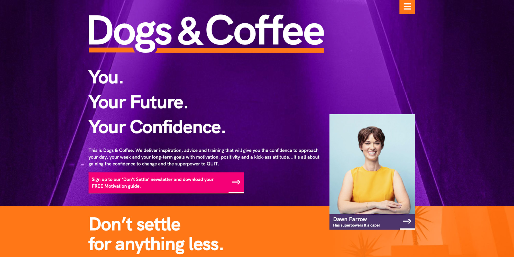Dogs and Coffee website image
