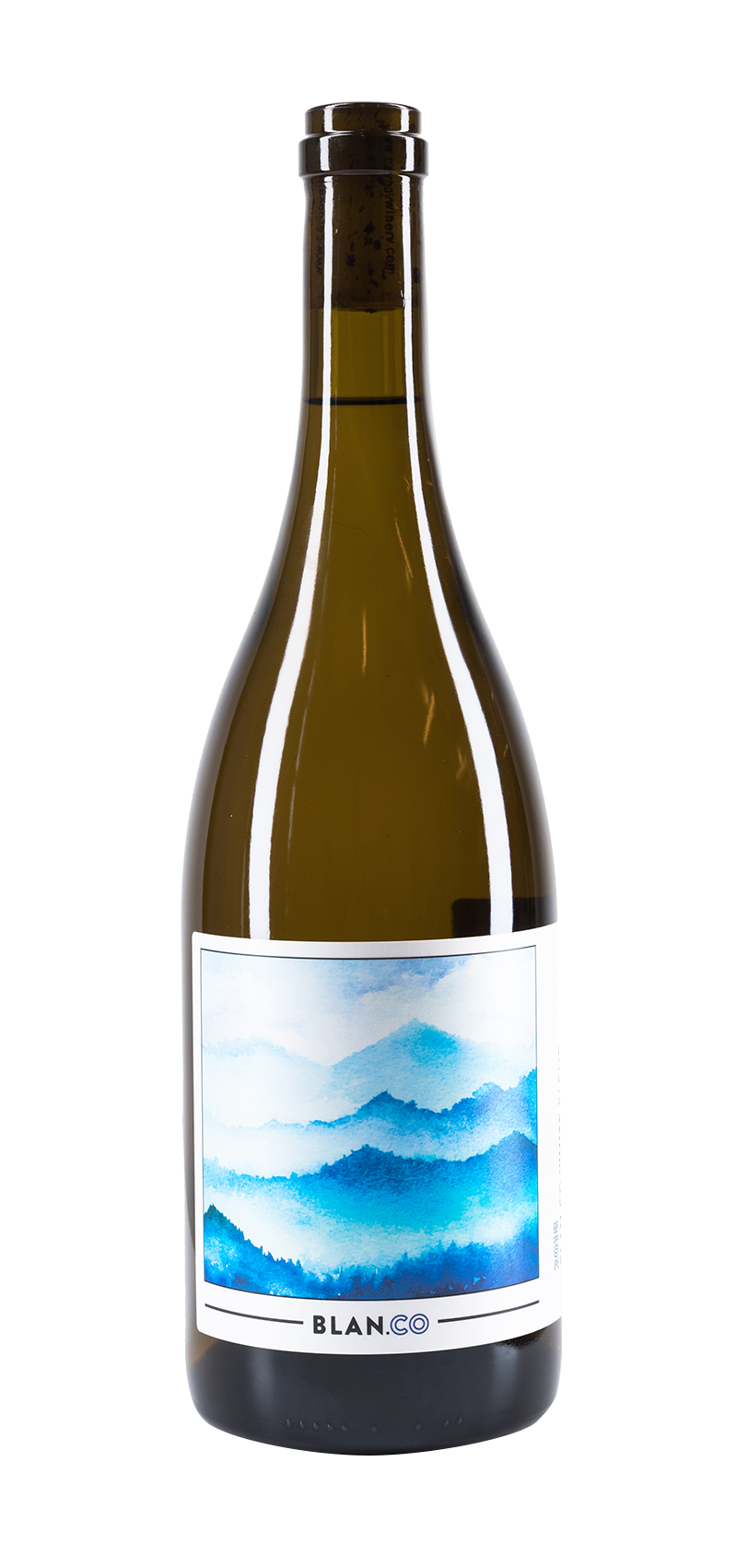 Bottle of Carboy Winery's Blan.co White Blend wine.