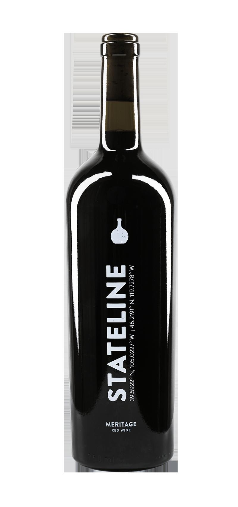 Bottle of Carboy Winery's Stateline Meritage wine.