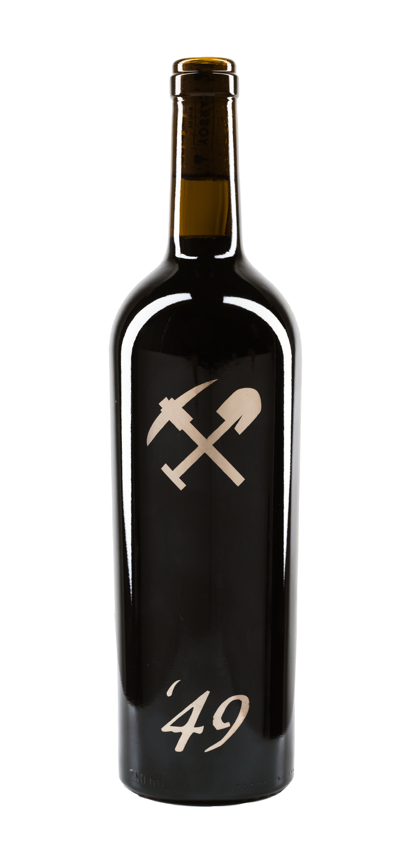 Bottle of Carboy Winery's Vin '49 Red Blend wine.