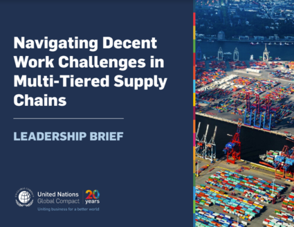 New Release - Navigating Decent Work Challenges in Multi-Tiered Supply Chains: Leadership Brief