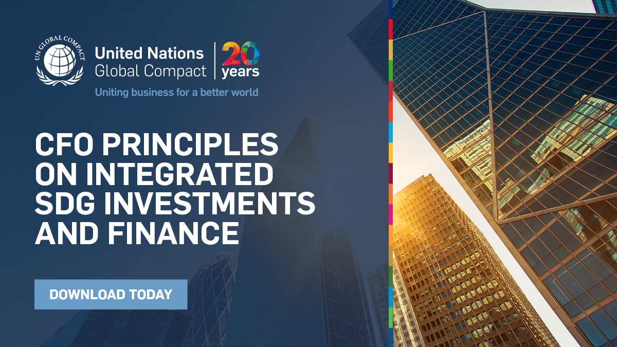 CFO Taskforce launches Principles for Integrated SDG Investments and Finance to focus private sector investment