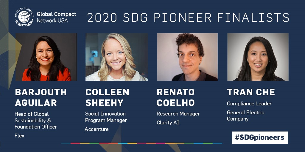 Global Compact Network USA Recognizes SDG Pioneer Finalists
