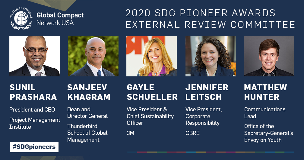 Global Compact Network USA Recognizes Our SDG Pioneer External Reviewers