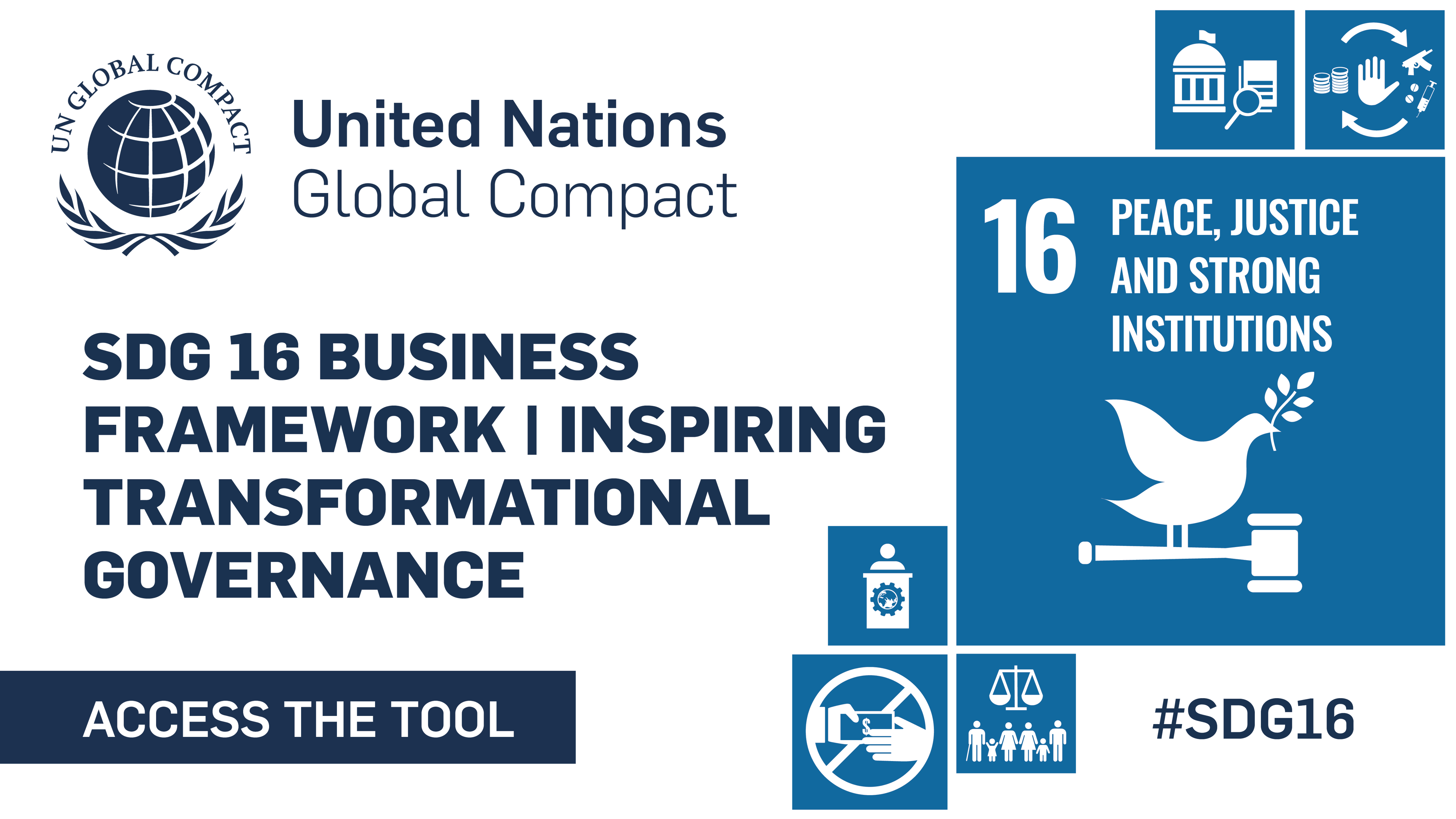 UN Global Compact Launches SDG 16 Business Framework to Inspire Transformational Governance