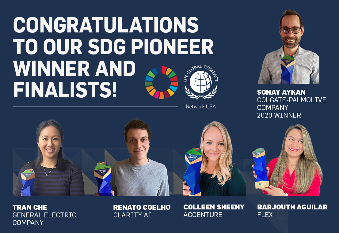 Congratulations to Our 2021 SDG Pioneer Winner and Finalists!