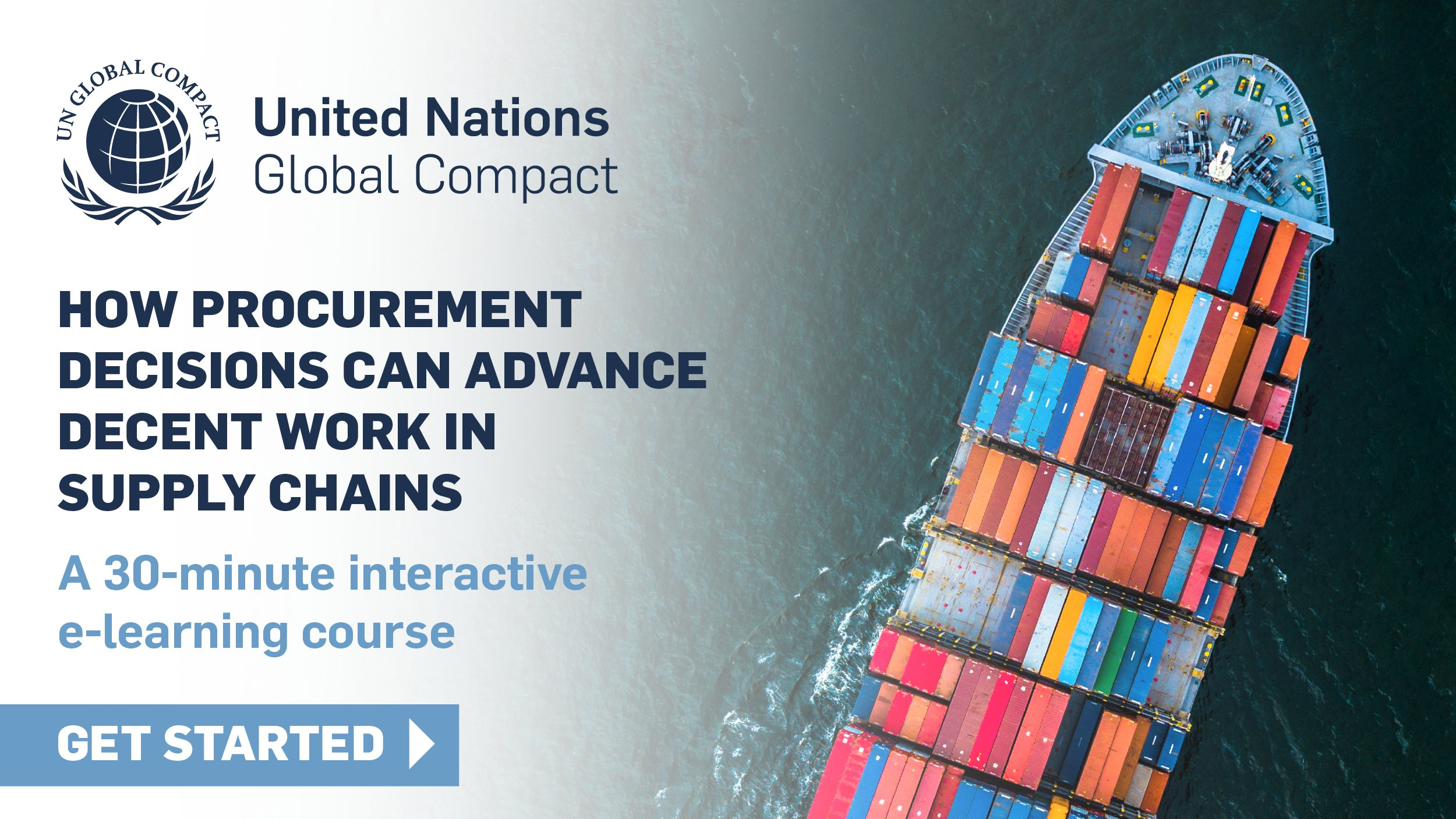 Access the New UN Global Compact Academy E-learning Course on Decent Work in Supply Chains