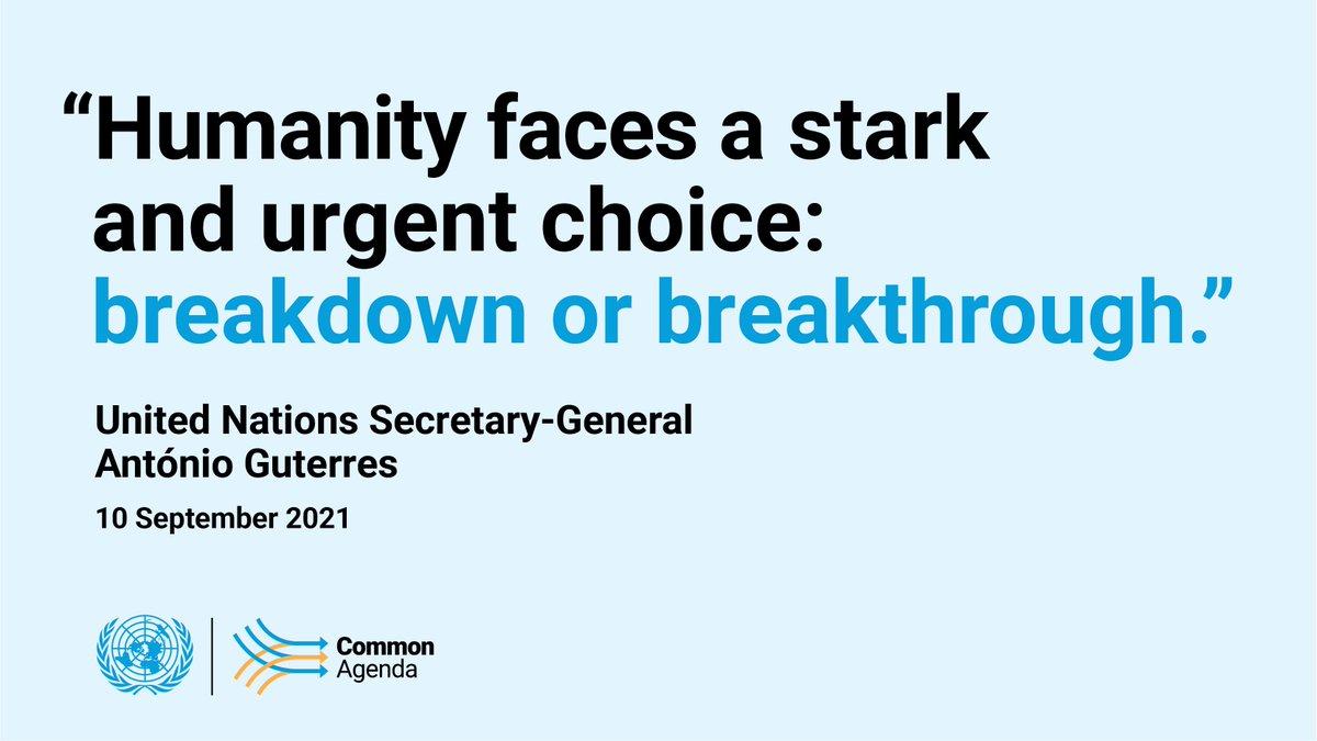 Report of the UN Secretary-General: Our Common Agenda