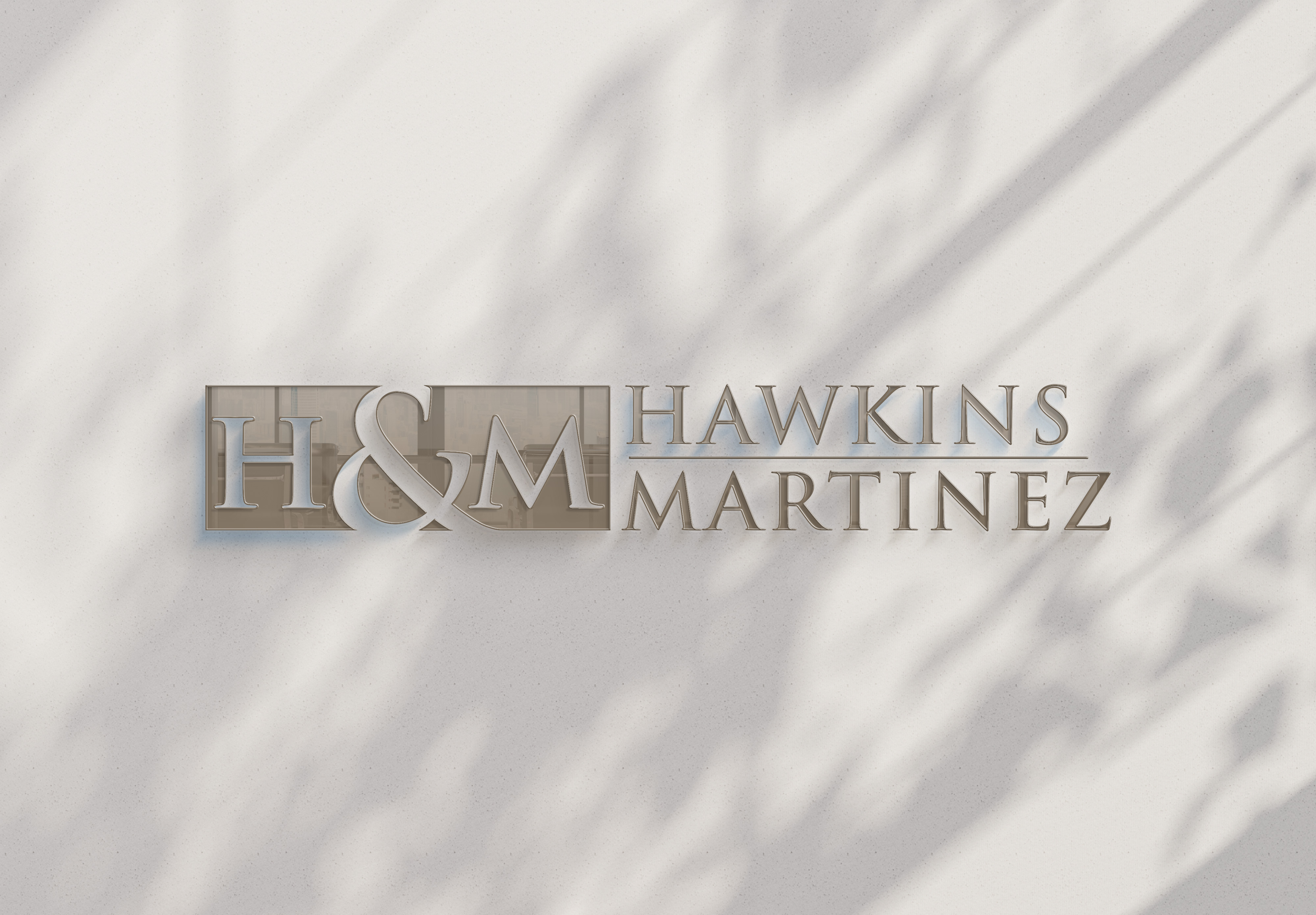 Hawkins & Martinez Office Sign Mockup