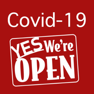 Covid-19 Yes We're Open