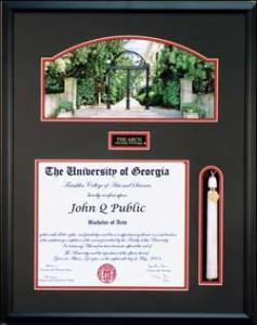 UGA Tassel Diploma Frame