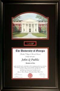 UGA Business School Diploma Frame