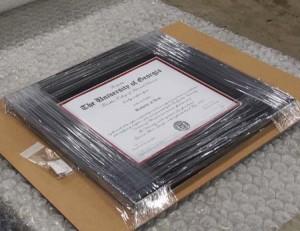 UGA diploma frames - FAQ