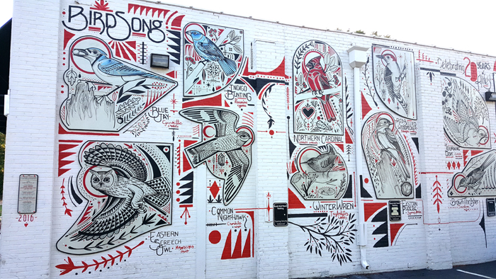 Bird Song = Athfest 2016 mural - Athens Ga