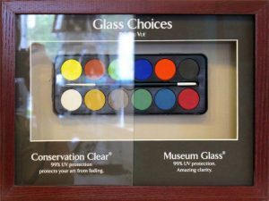 types of glass from Athens Art and Frame
