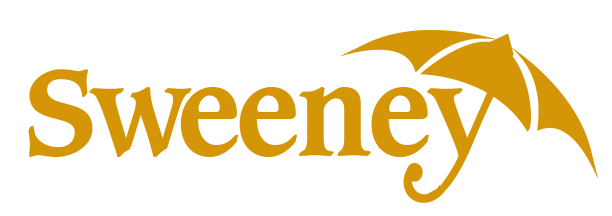 Sweeney Insurance Logo with the y as the handle of an umbrella
