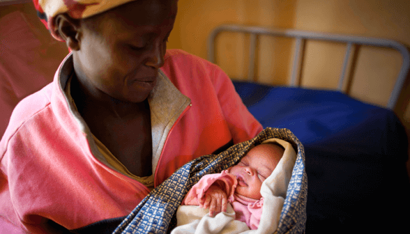 Rwandan mother and new born baby