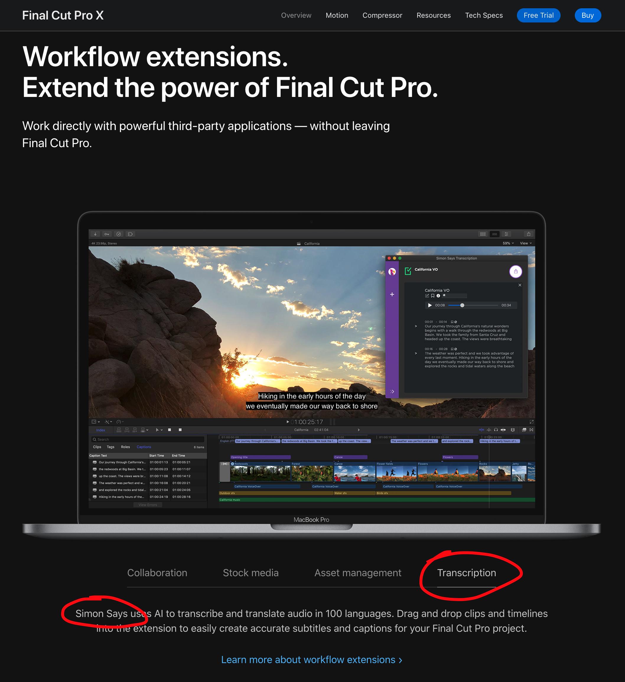 Apple Final Cut Pro X and Simon Says