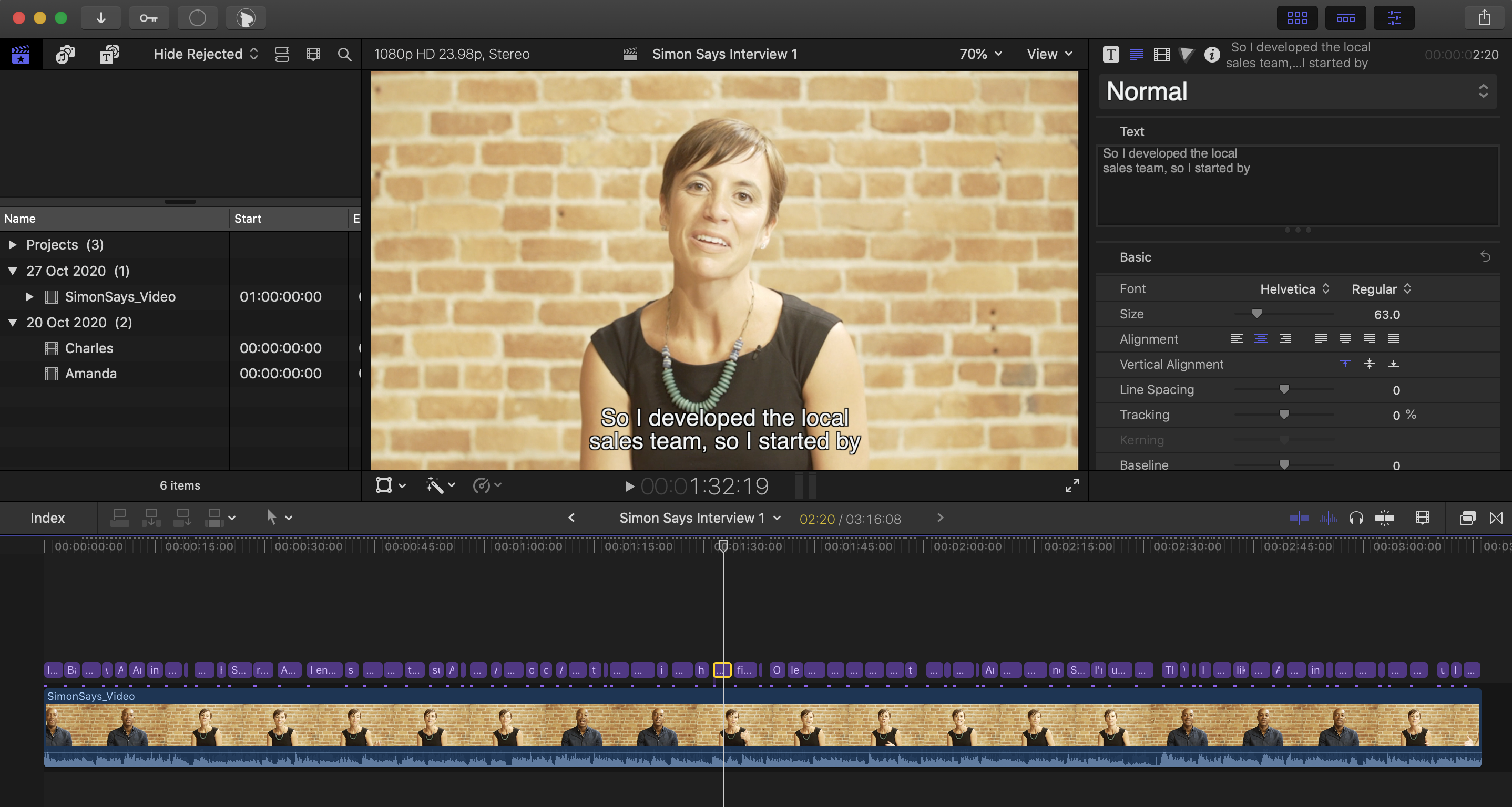 How to receive titles in Final Cut Pro X (FCPX) with A.I.
