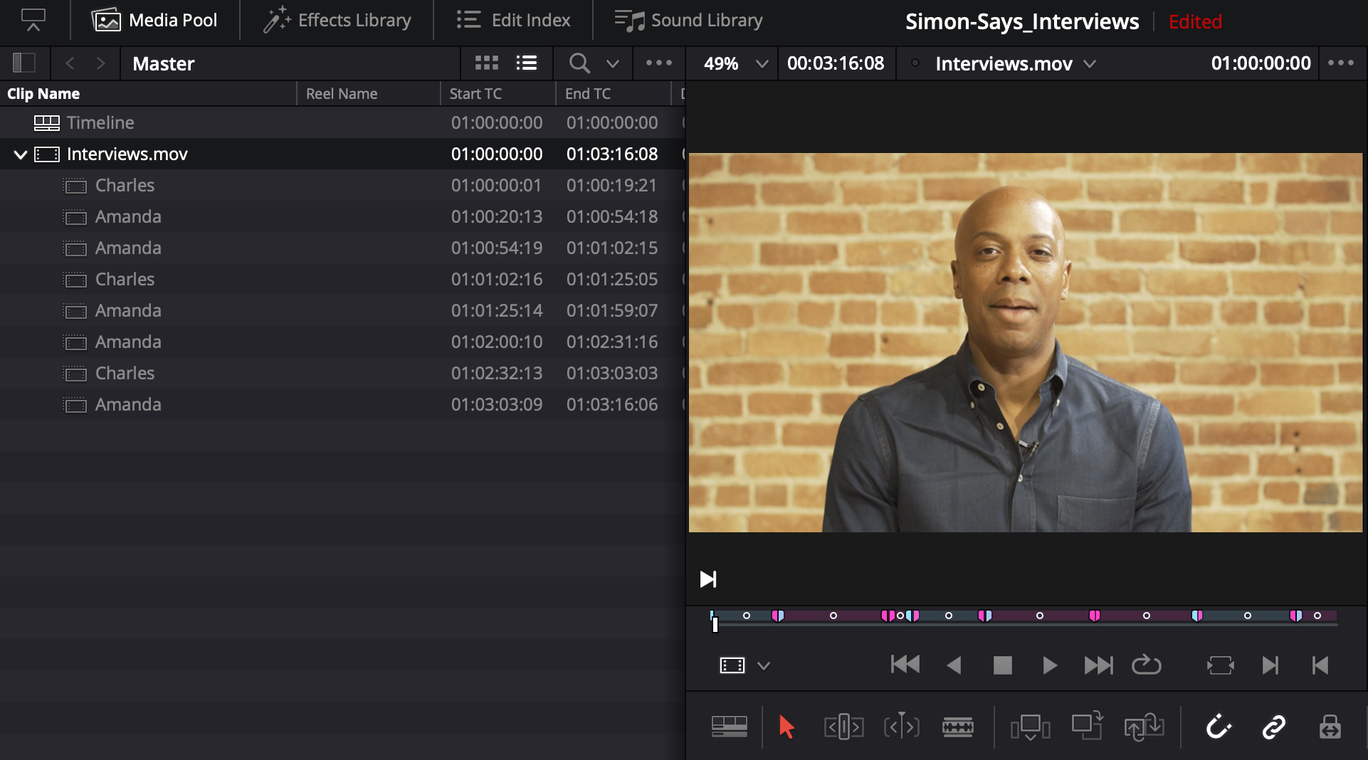 How to transcribe clips and receive markers in DaVinci Resolve (For Macs)