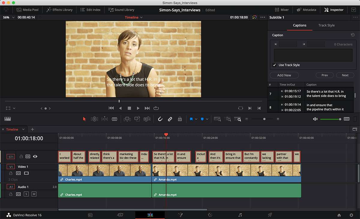 How to subtitle/caption your Blackmagic DaVinci Resolve timeline/sequence