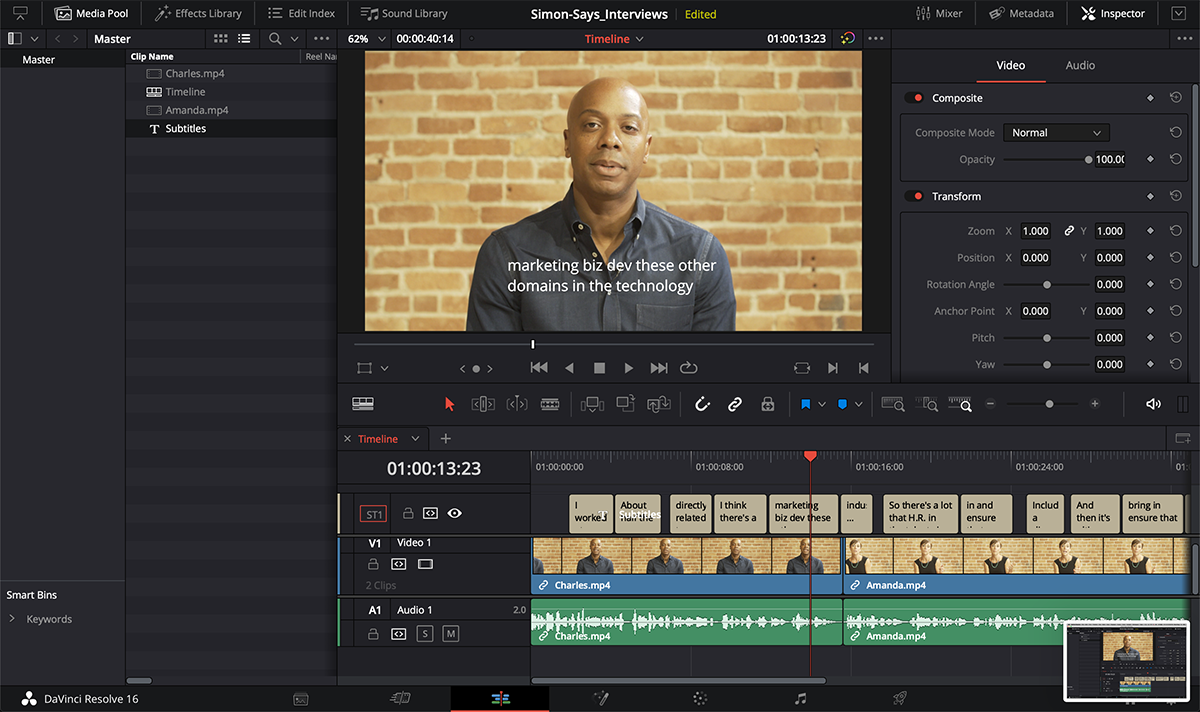 How to subtitle/caption your Blackmagic DaVinci Resolve timeline/sequence