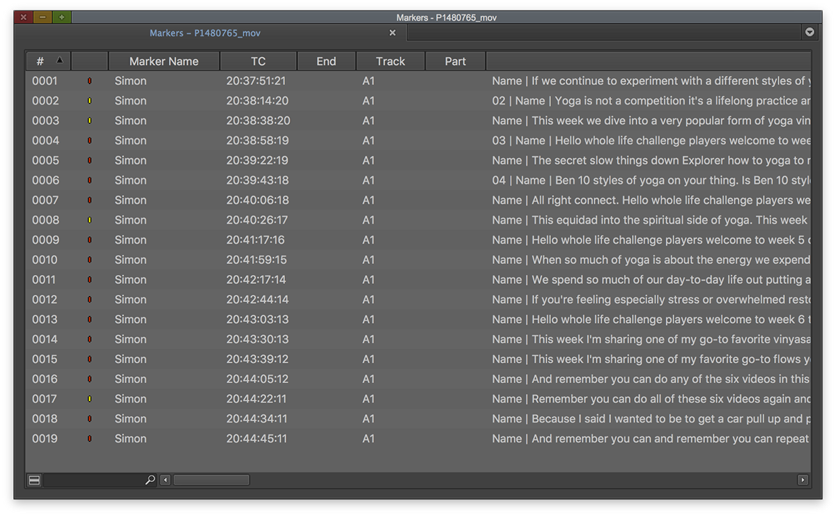 How to transcribe in Avid Media Composer and receive text locator marker files