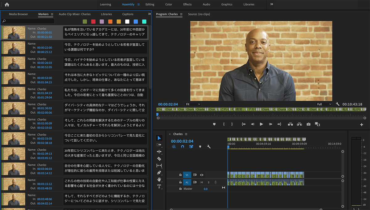 How to translate audio/video in Adobe Premiere Pro