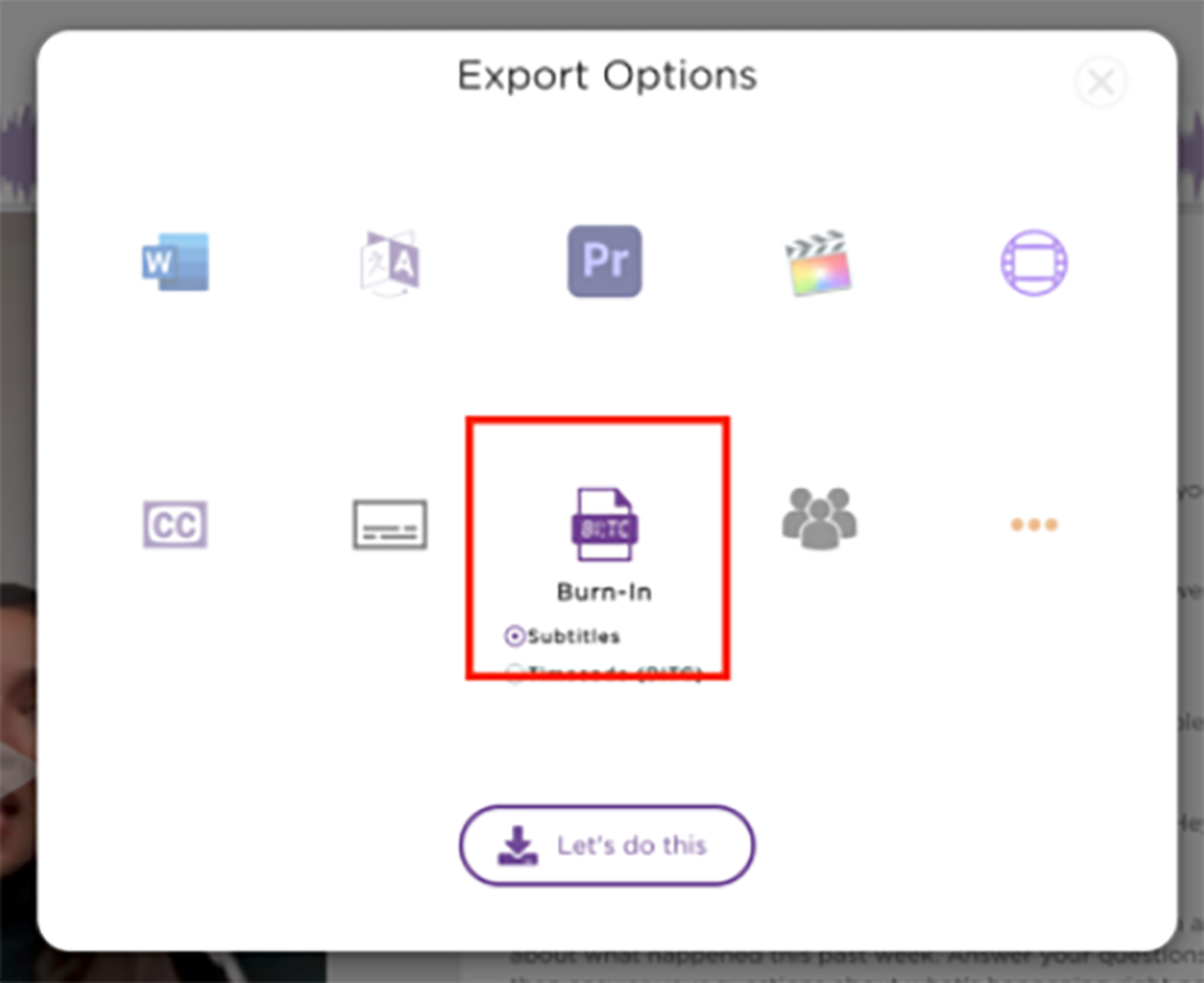 How to add burn-in captions/subtitles to your video