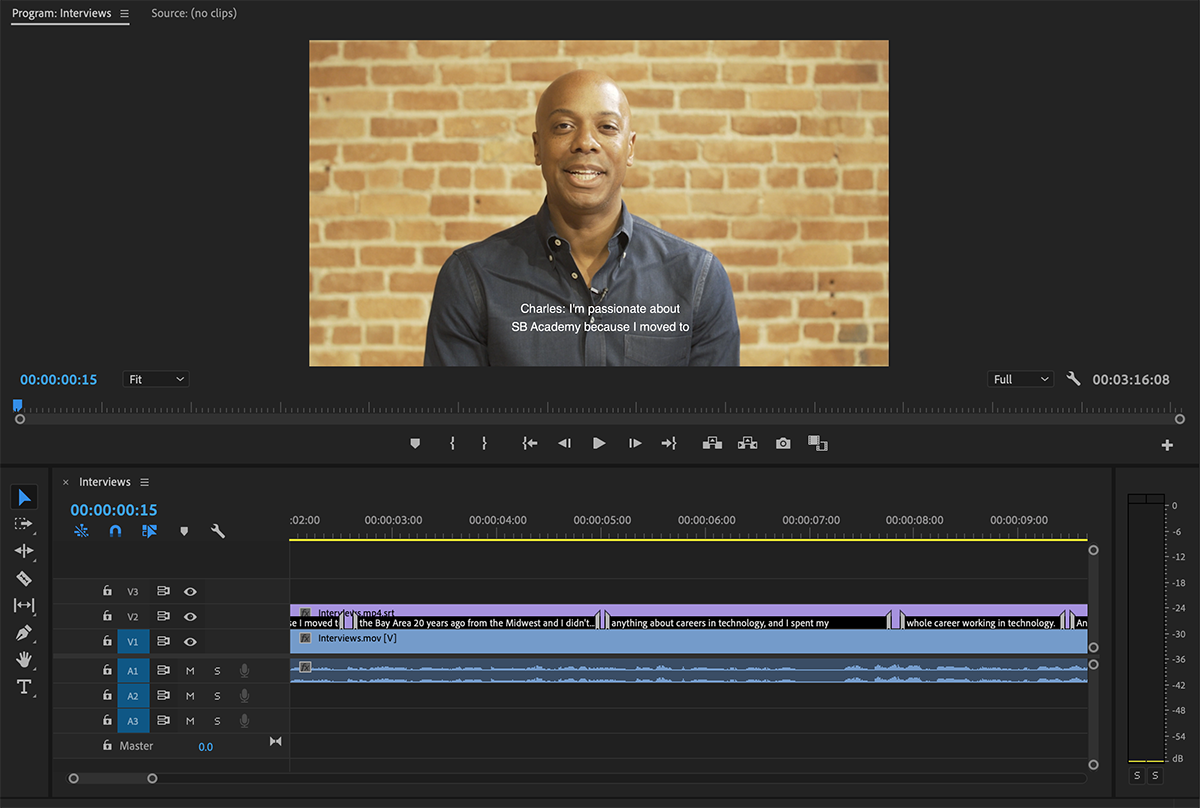 How to subtitle/caption audio/video in Adobe Premiere Pro