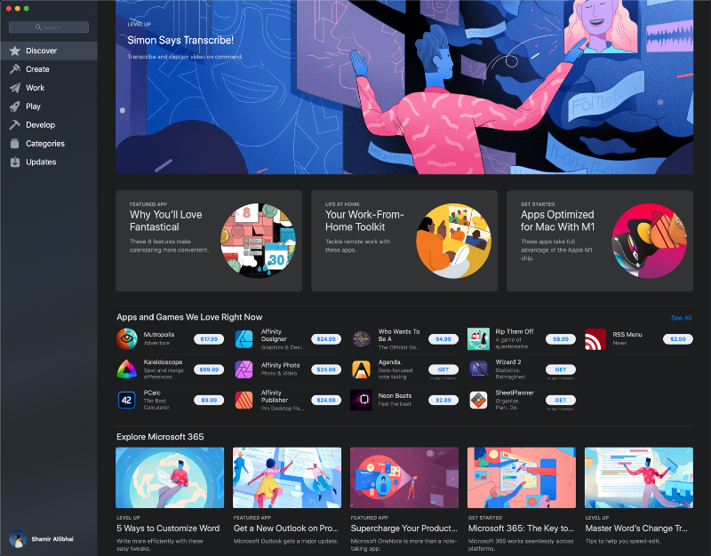 Apple featured Simon Says on the home of the Mac App Store