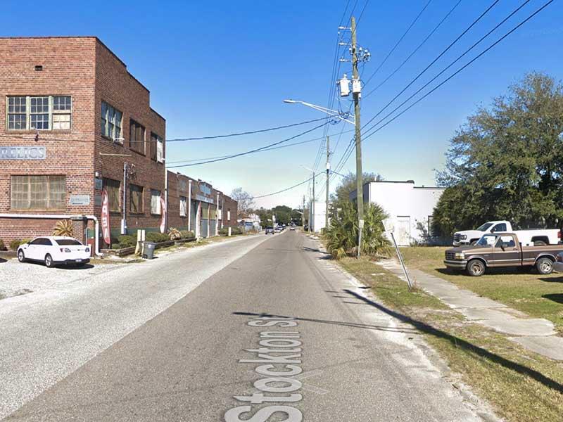 Stockton Street before bike lanes