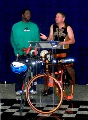Chris Burns and Mayor Alvin Brown of Jacksonville