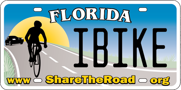 Florida Bicycle License Tag Share the Road