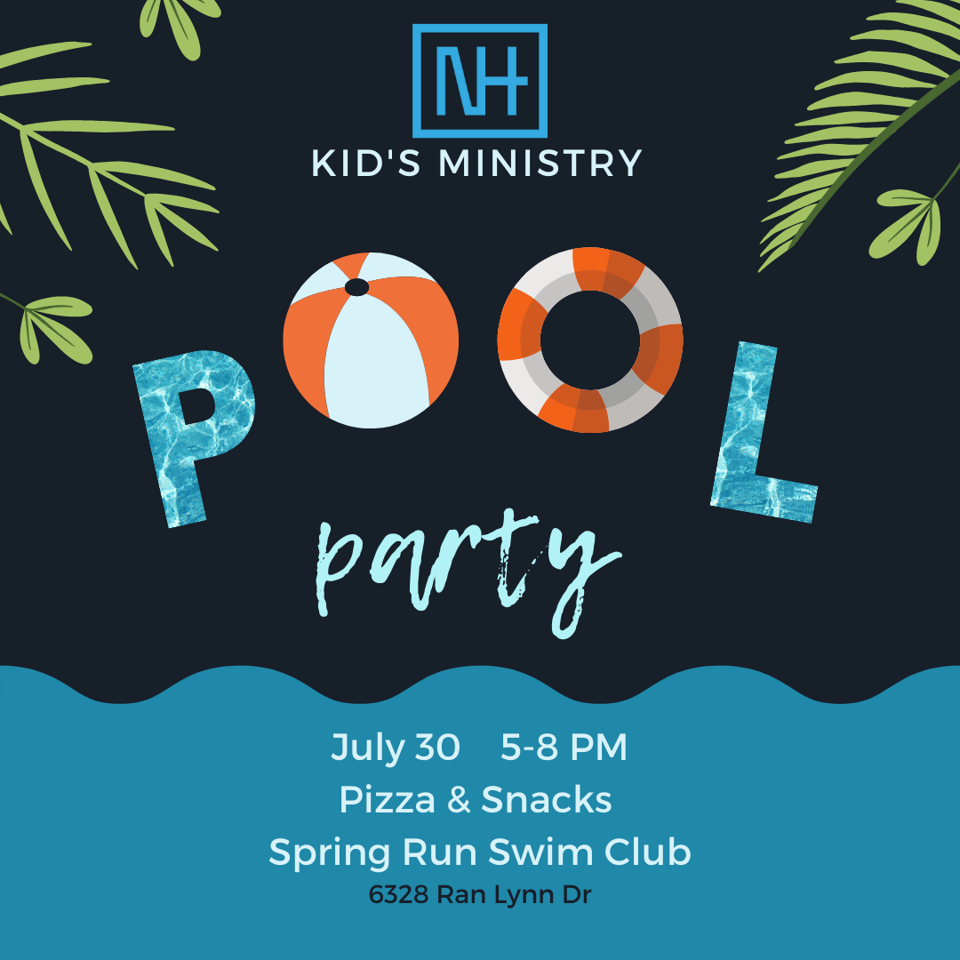 Kid's Ministry Pool Party