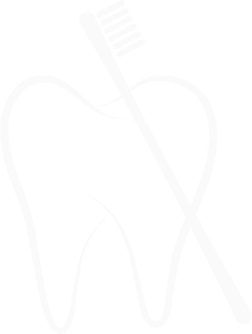 Icon of tooth and toothbrush