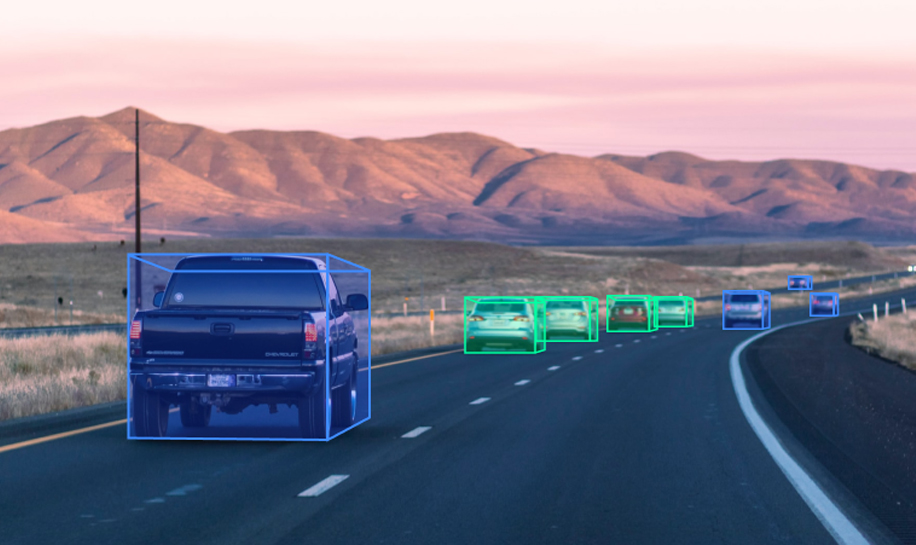 Cuboid annotations on cars for autonomous perception systems