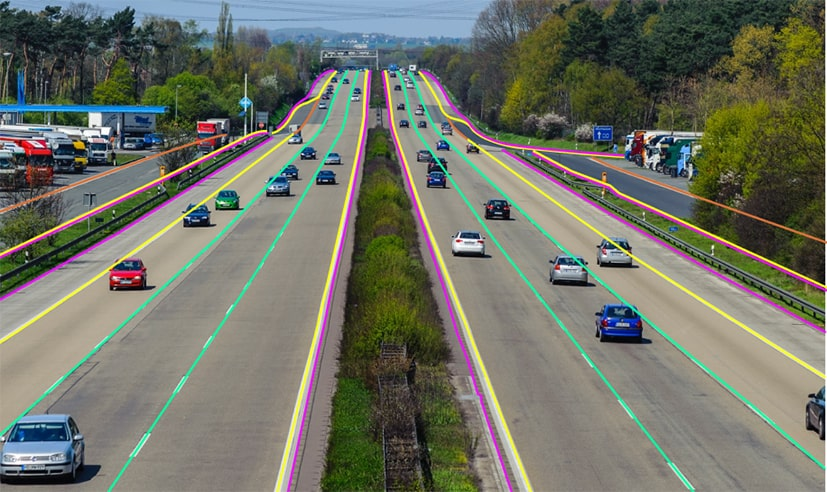Polyline annotations for drivable lane detection