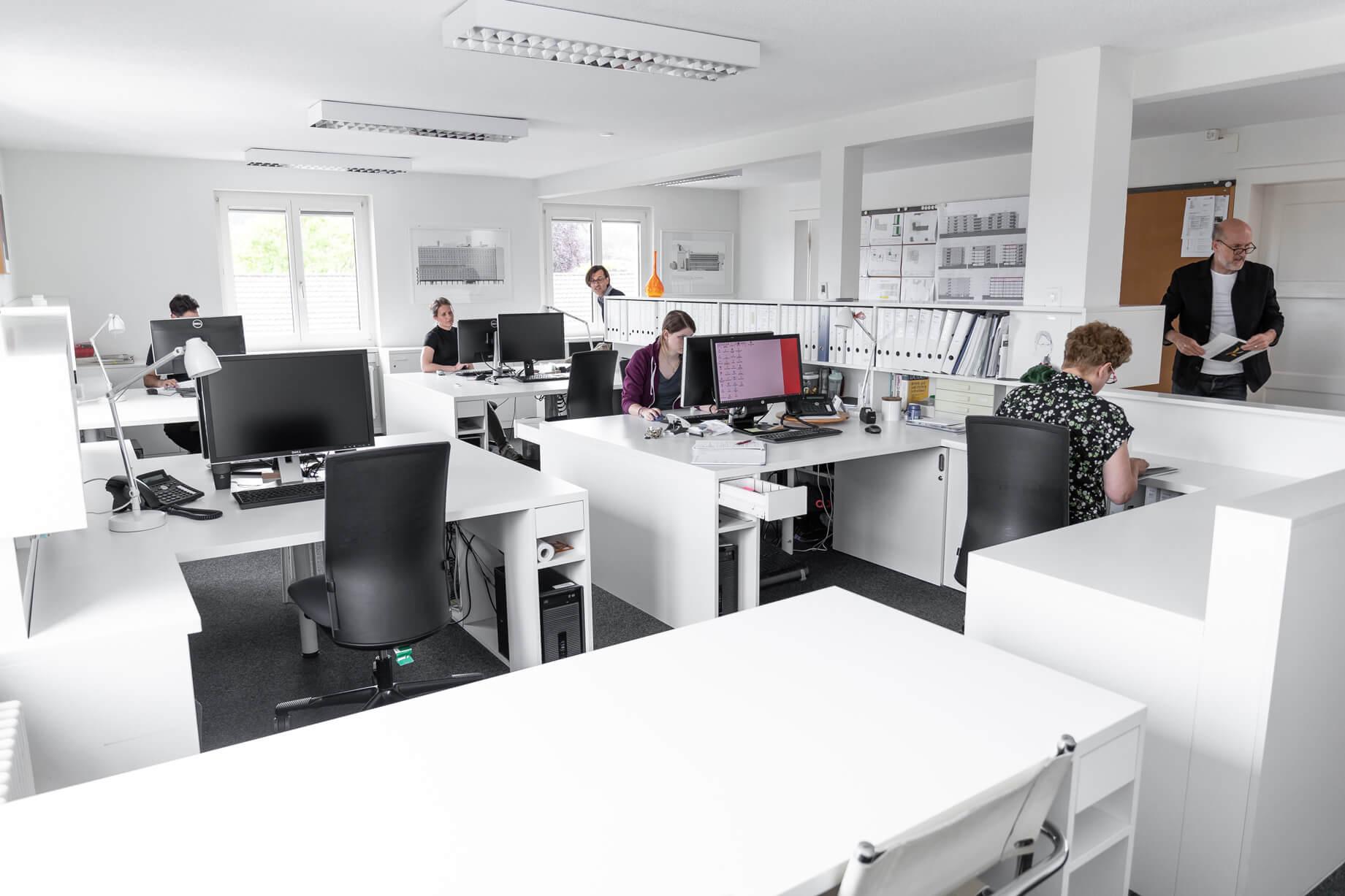Das Büro der Architekten Knut und Christoph Lüscher