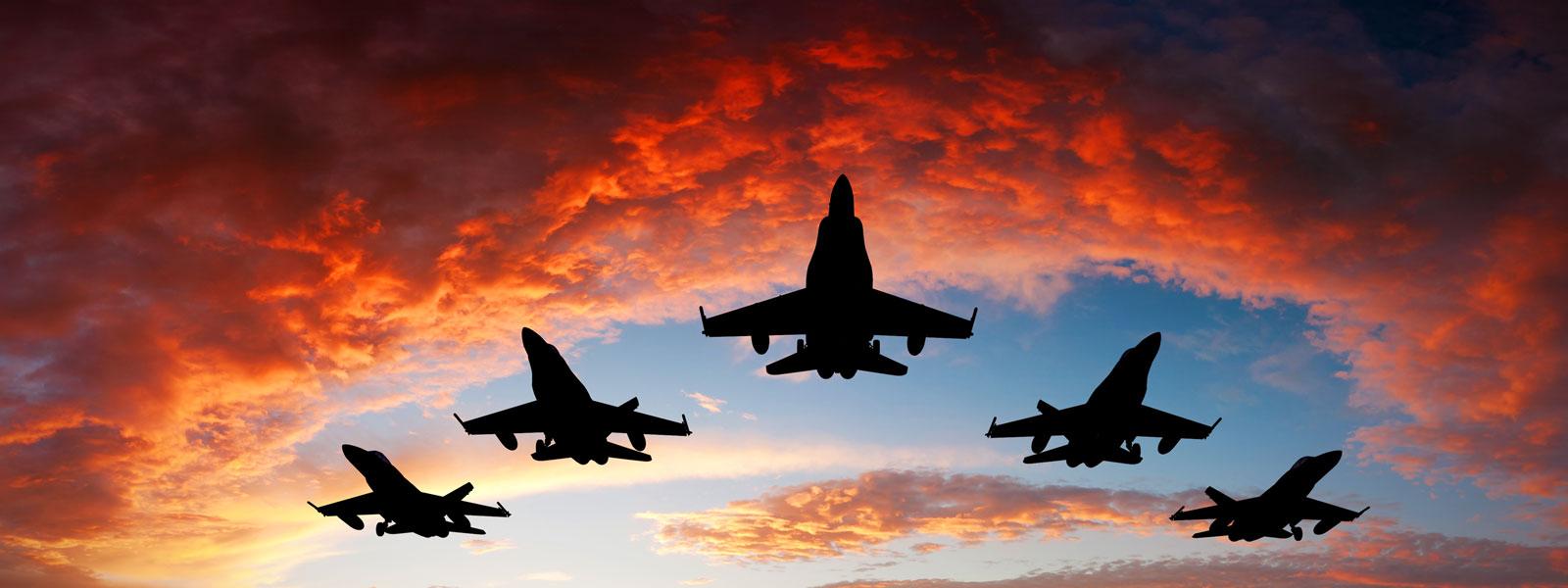 Fighter jet hangar