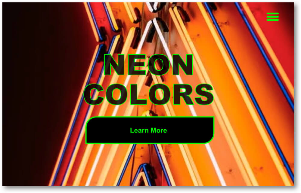 Neon Colors website
