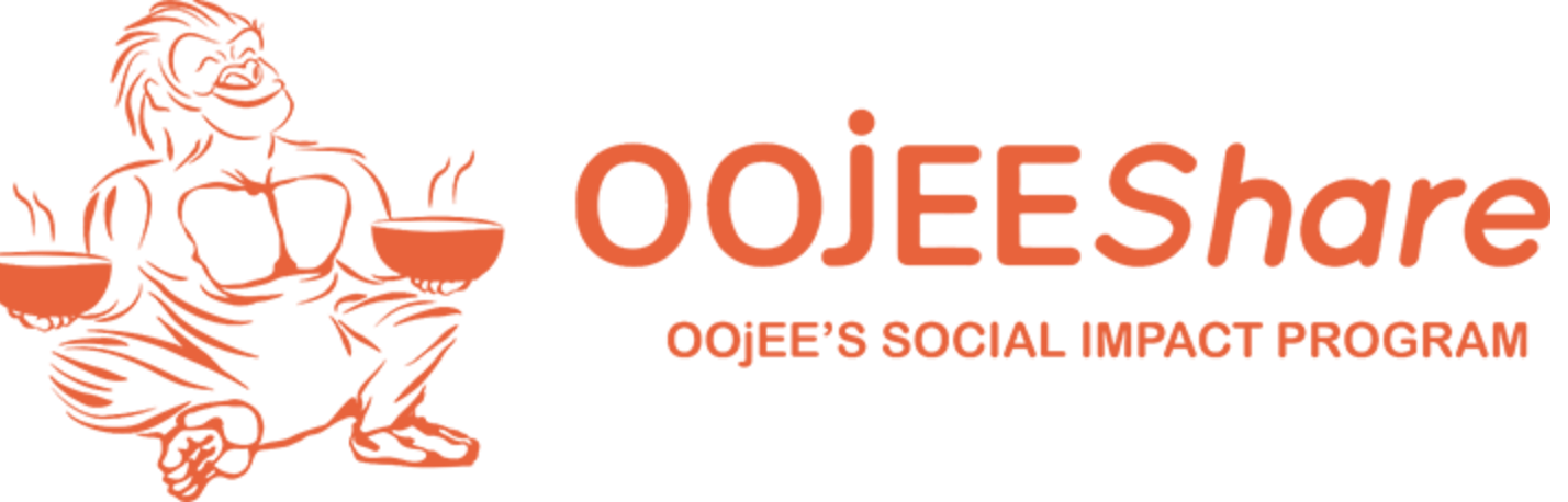 OOjEE Be a Foodie Share Logo
