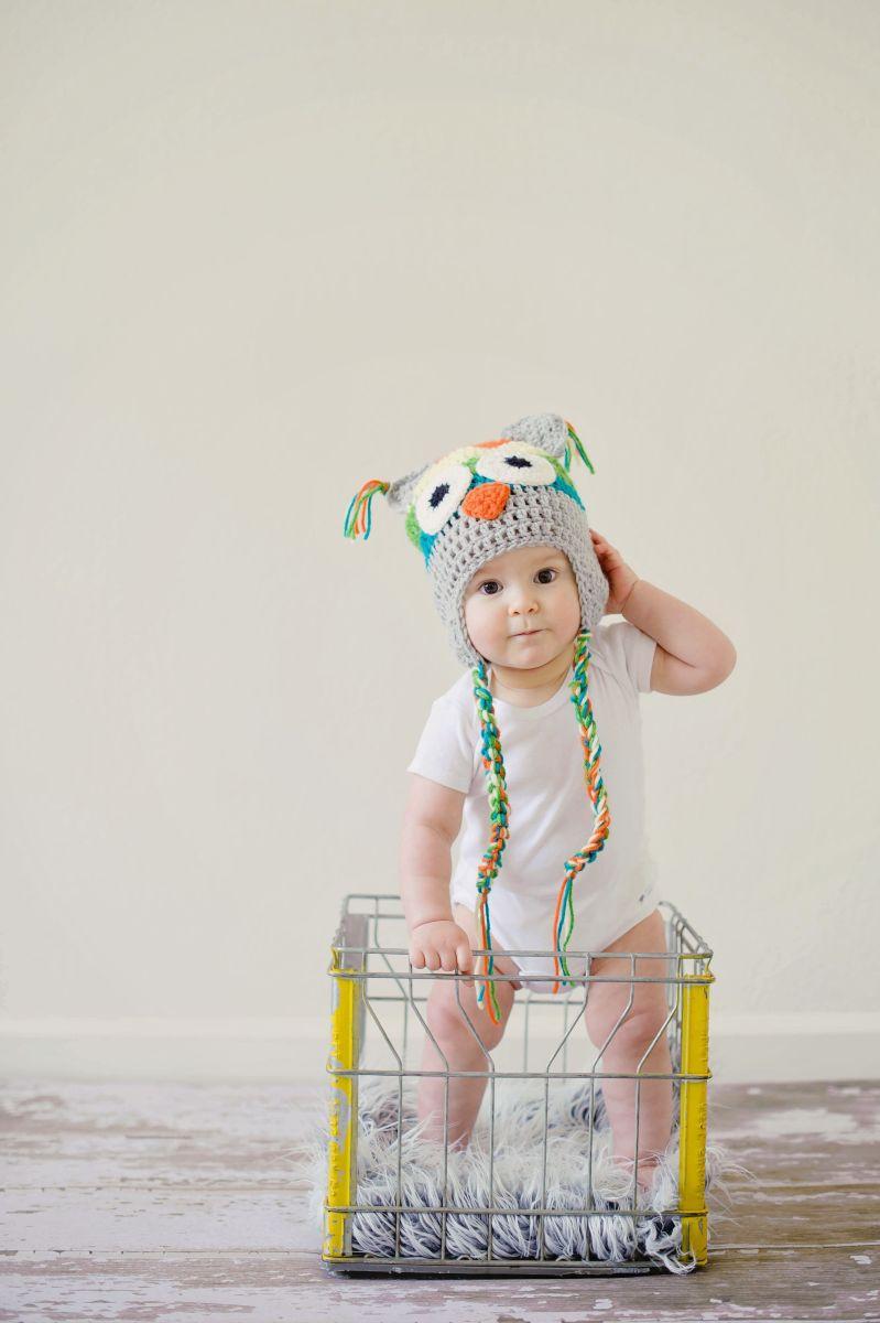 Baby in a cute own beanie