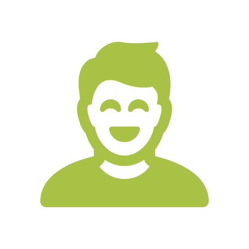 smiling person