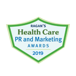 Logo for Ragan's Health Care PR & Marketing Awards, for the year 2019
