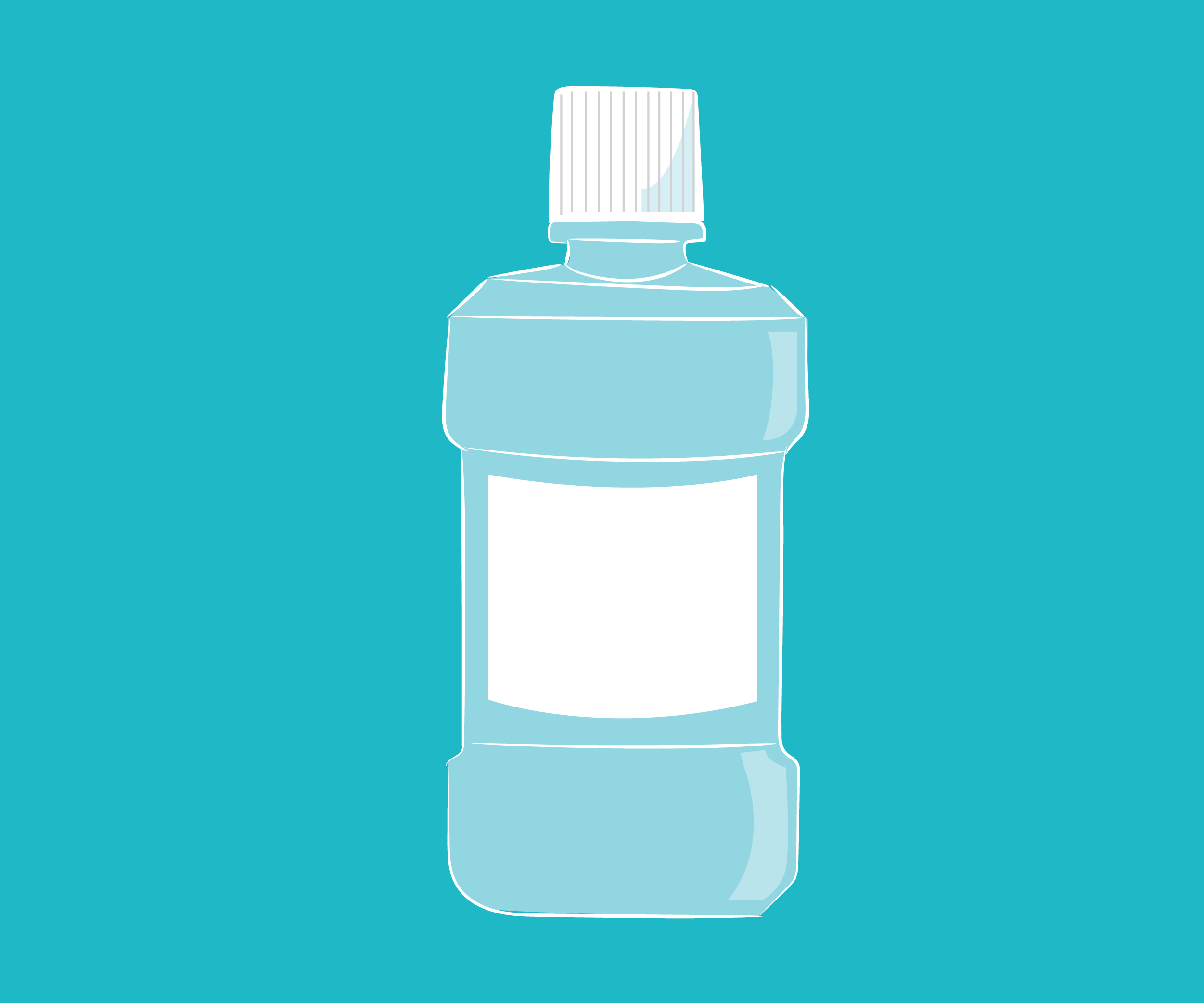 graphic of a bottle of mouthwash