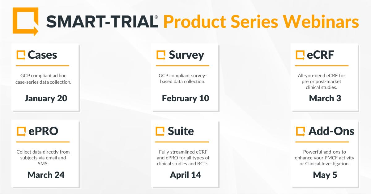 SMART-TRIAL Product Series Webinars