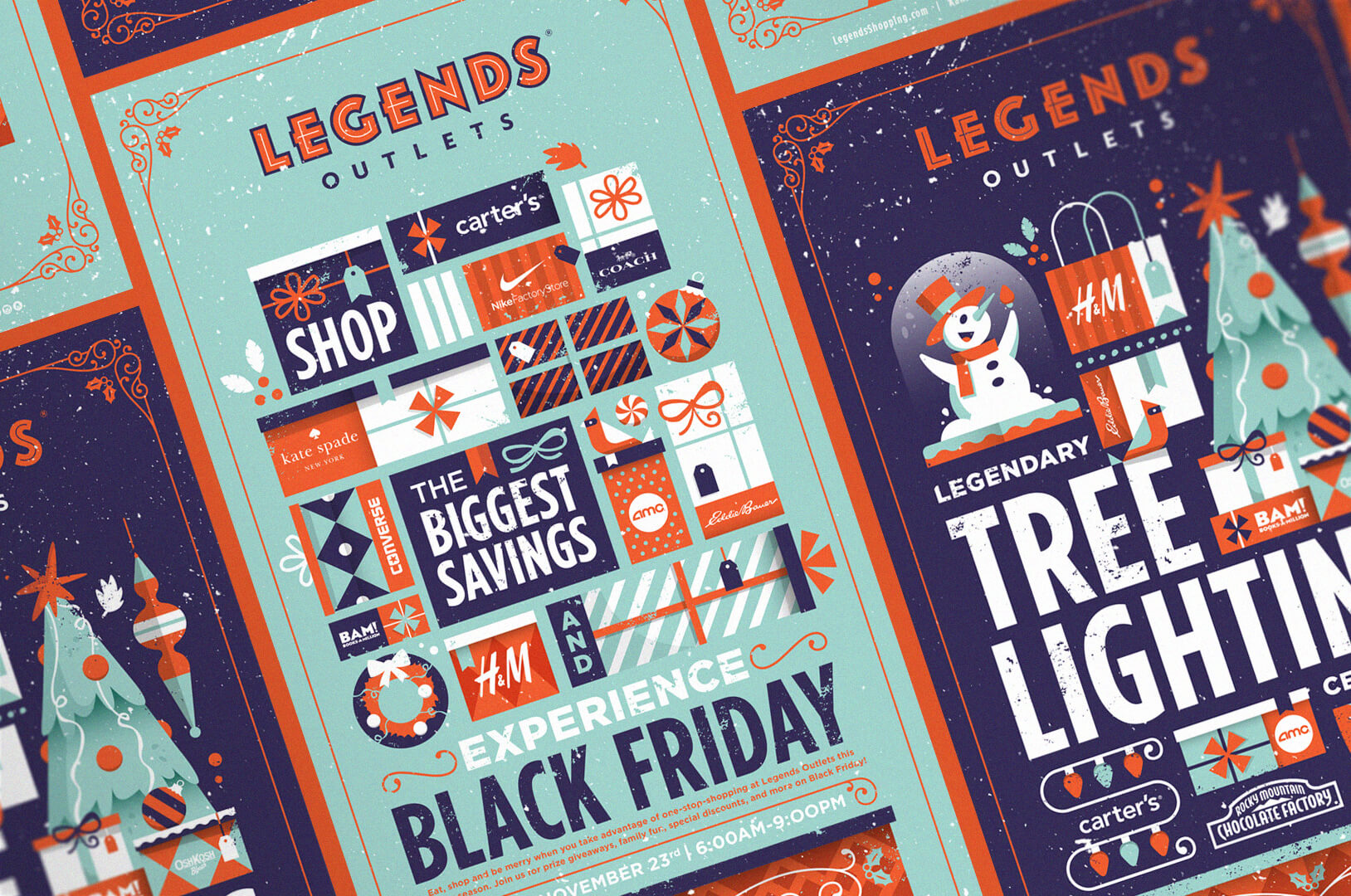 Kansas City's Legends Outlets holiday campaign creative.